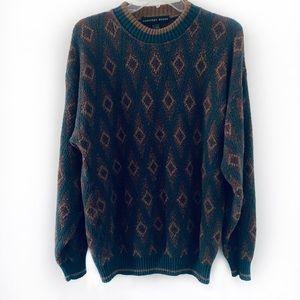 Vintage Geoffrey Beene Men Crewneck Pullover Sz L